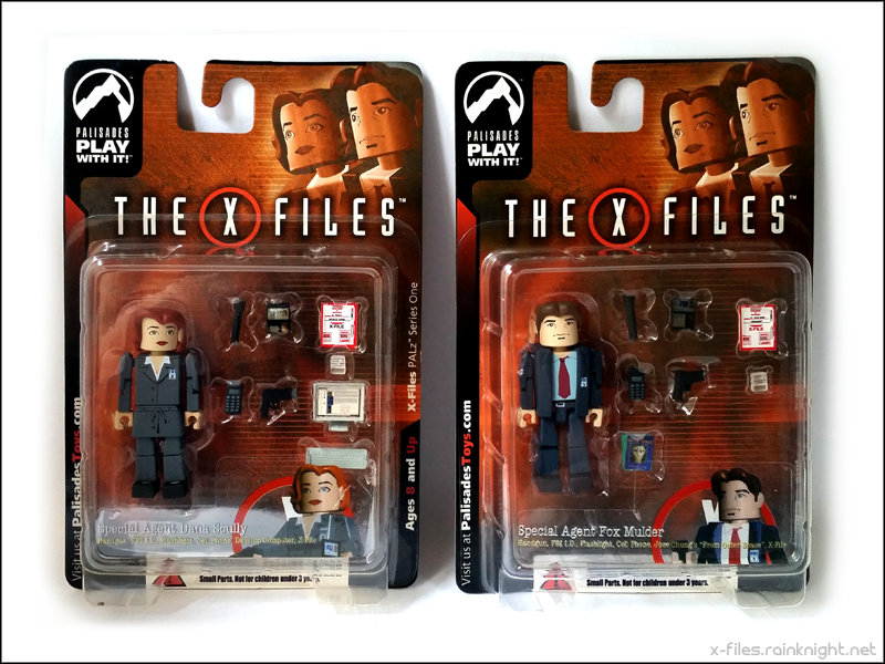PALz Series 1 Scully and Mulder figures
